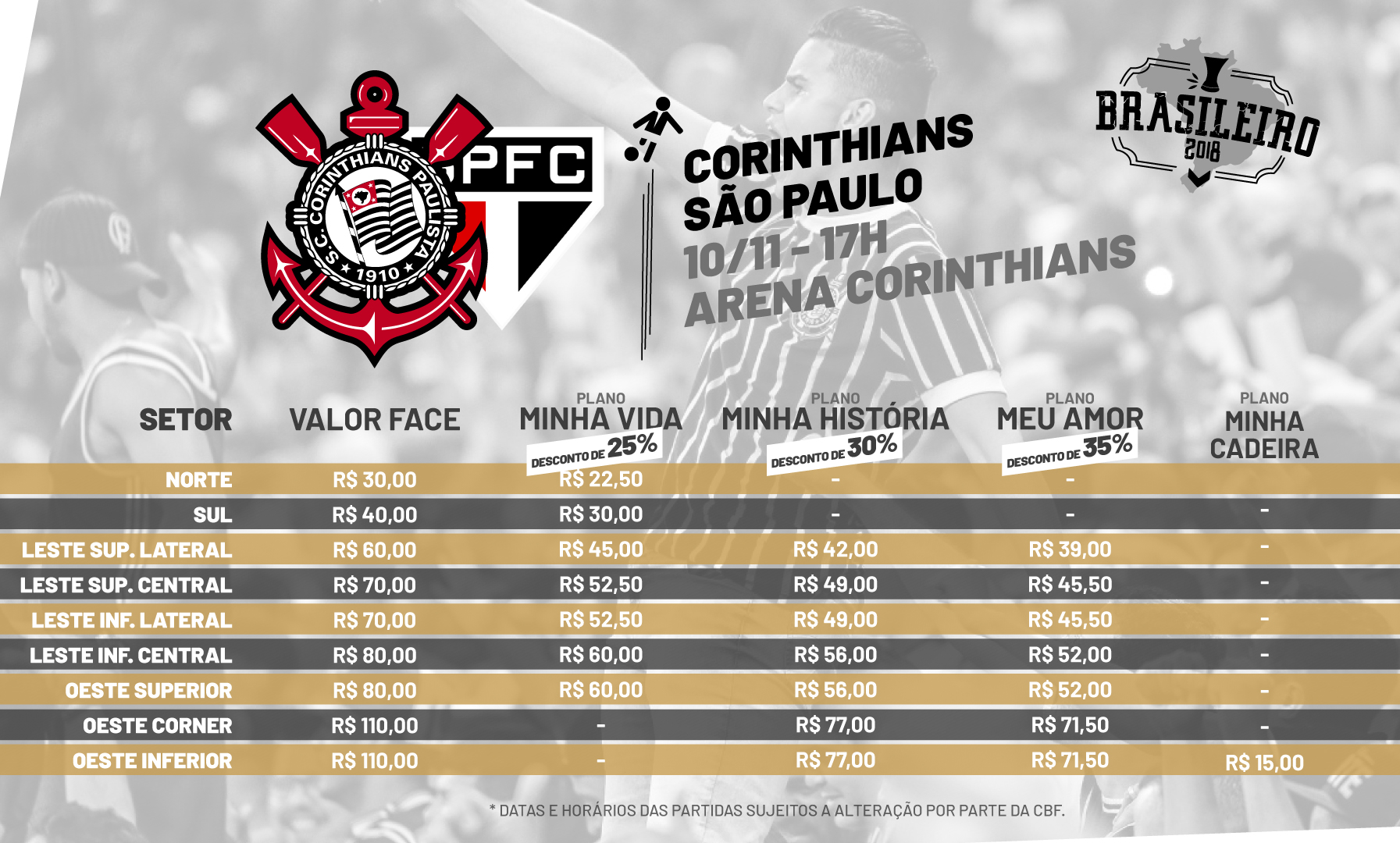 Corinthians inicia venda de ingressos para o clássico contra o São Paulo b9813f7726a
